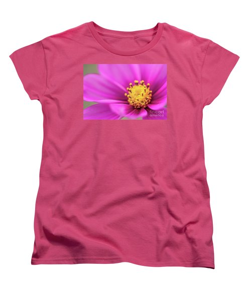 Women's T-Shirt (Standard Cut) featuring the photograph Cosmos Pink Sensation by Sharon Mau
