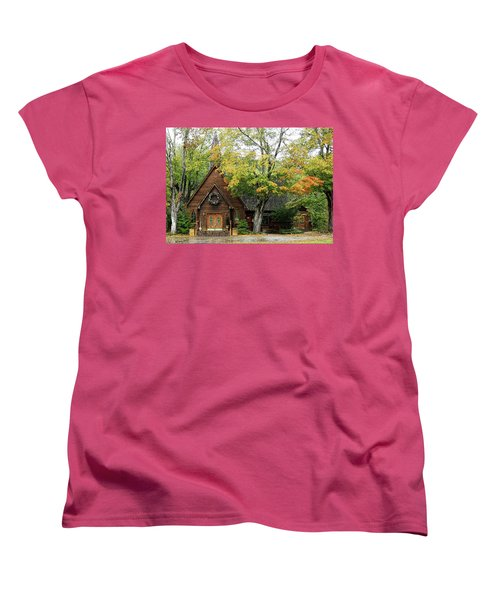 Women's T-Shirt (Standard Cut) featuring the photograph Country Chapel by Jerry Battle