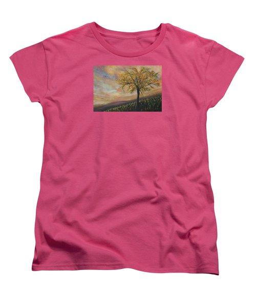 Country Morn Women's T-Shirt (Standard Cut) by Roberta Rotunda