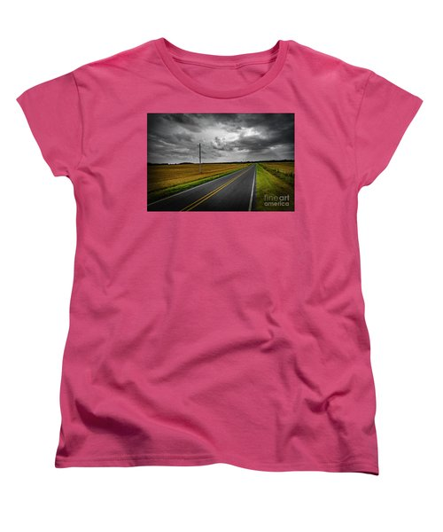 Women's T-Shirt (Standard Cut) featuring the photograph Country Road by Brian Jones