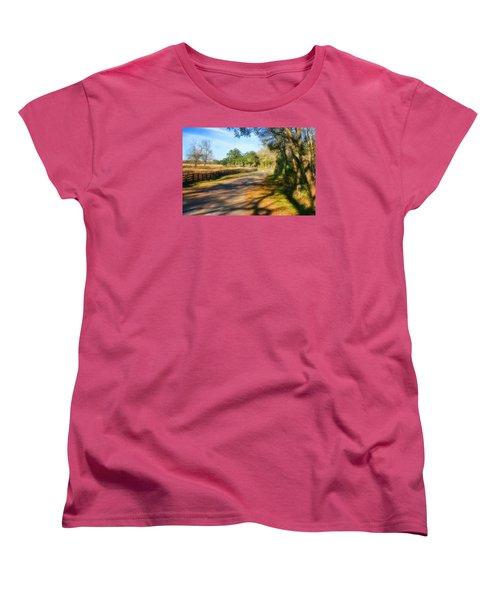Country Road Women's T-Shirt (Standard Cut) by Joan Bertucci
