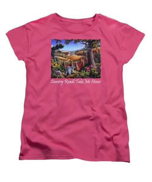 Country Roads Take Me Home T Shirt - Coon Gap Holler - Appalachian Country Landscape 2 Women's T-Shirt (Standard Cut)