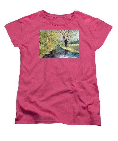 Covered Bridge Park Women's T-Shirt (Standard Cut) by Ryan Radke
