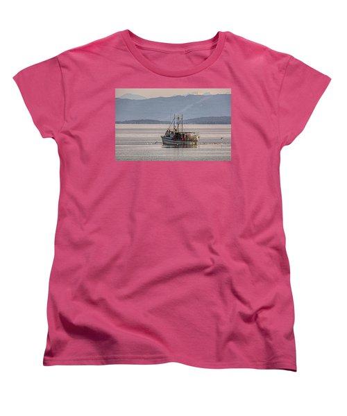 Crabbing Women's T-Shirt (Standard Cut) by Randy Hall