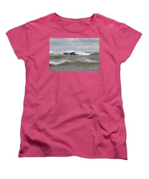 Crashing The Reef Women's T-Shirt (Standard Cut) by Sandra Updyke