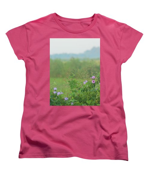 Women's T-Shirt (Standard Cut) featuring the photograph Crawfish And Rice Fields Of Dreams by John Glass