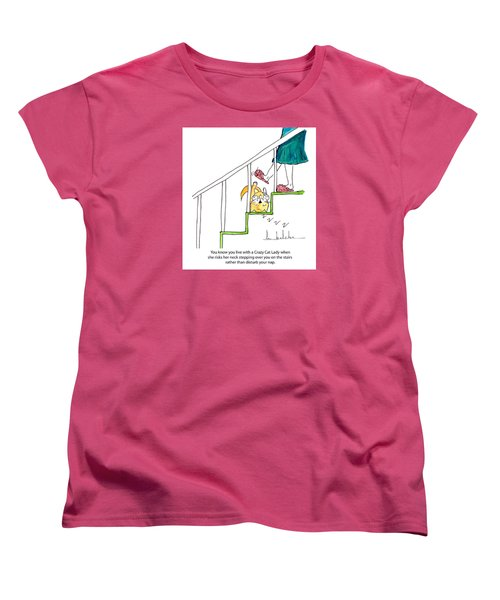 Crazy Cat Lady 0006 Women's T-Shirt (Standard Cut) by Lou Belcher