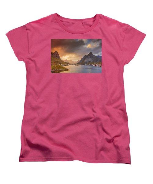 Crazy Sunset In Lofoten Women's T-Shirt (Standard Cut)