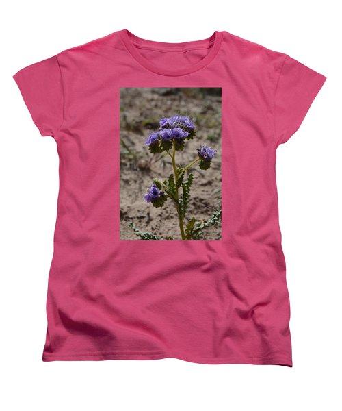 Women's T-Shirt (Standard Cut) featuring the photograph Crenulate Phacelia Flower by Jenessa Rahn