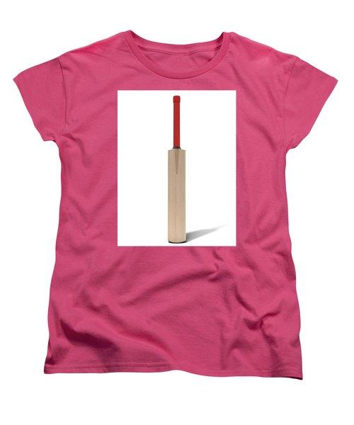 Cricket Bat Women's T-Shirt (Standard Cut) by Allan Swart
