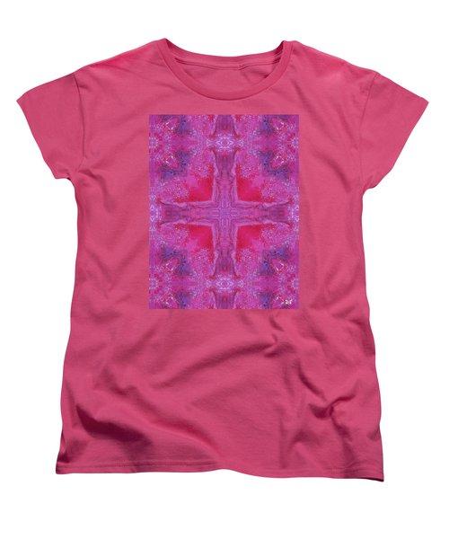 Cross Of Love Women's T-Shirt (Standard Cut) by Maria Watt
