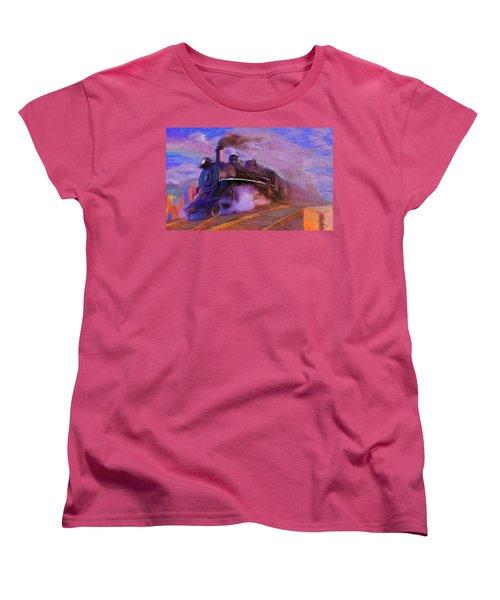Crossing Rails Women's T-Shirt (Standard Cut) by Caito Junqueira