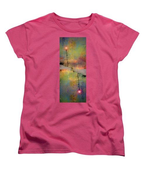 Women's T-Shirt (Standard Cut) featuring the digital art Crossroads by Tara Turner