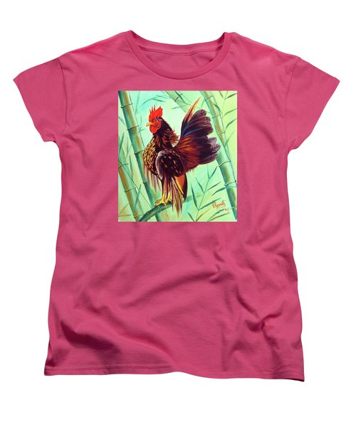 Crown Of The Serama Chicken Women's T-Shirt (Standard Cut) by Ragunath Venkatraman
