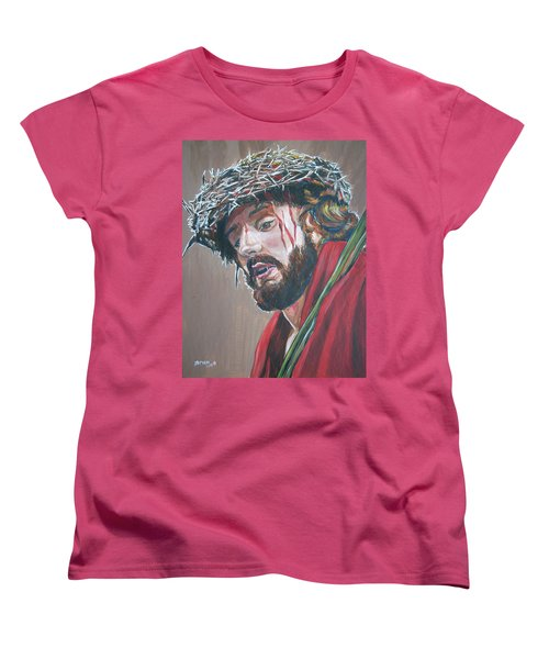 Crown Of Thorns Women's T-Shirt (Standard Cut) by Bryan Bustard