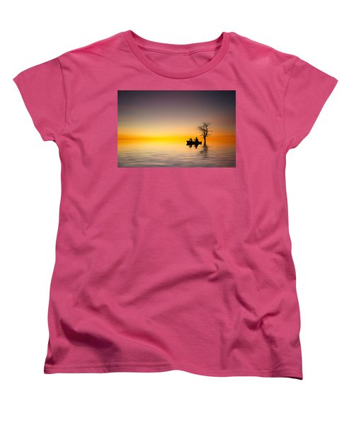 Women's T-Shirt (Standard Cut) featuring the pyrography Cruise by Bess Hamiti