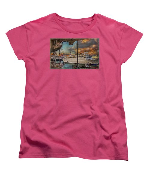 Cruise Port Women's T-Shirt (Standard Cut) by Hanny Heim