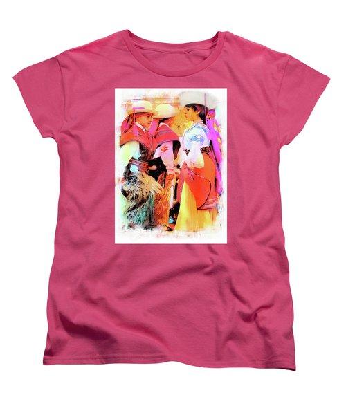 Women's T-Shirt (Standard Cut) featuring the photograph Cuenca Kids 884 by Al Bourassa