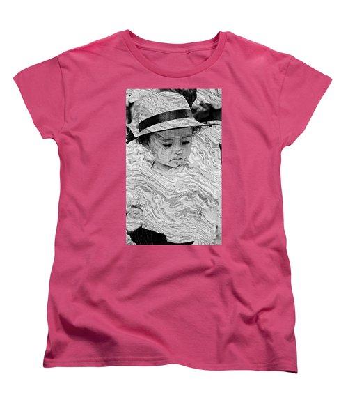 Women's T-Shirt (Standard Cut) featuring the photograph Cuenca Kids 894 by Al Bourassa
