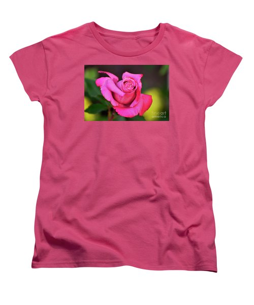 Women's T-Shirt (Standard Cut) featuring the photograph Curled Beauty by Debby Pueschel