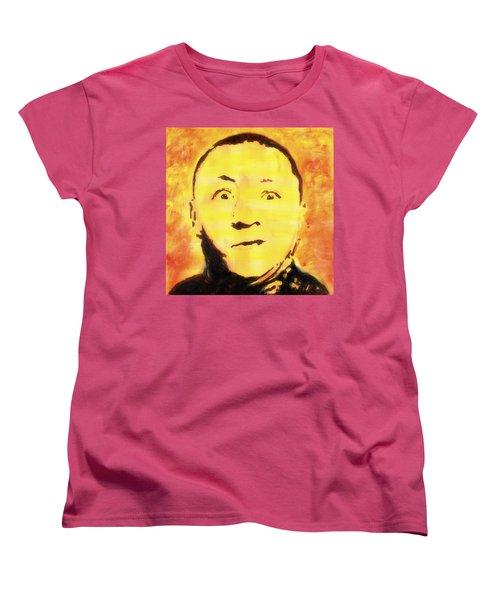 Curly Howard Three Stooges Pop Art Women's T-Shirt (Standard Cut)