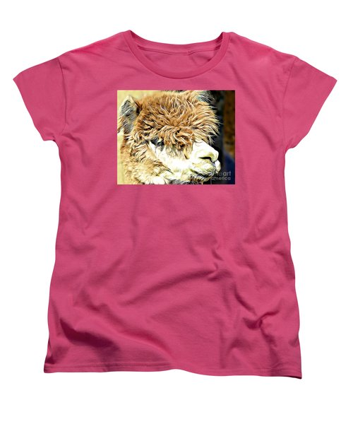 Soft And Shaggy Women's T-Shirt (Standard Cut) by Kathy M Krause