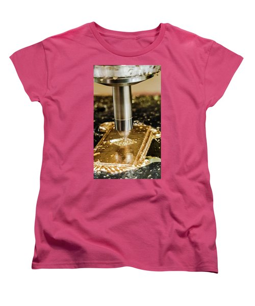 Cutting Brass Women's T-Shirt (Standard Cut) by Bruce Carpenter