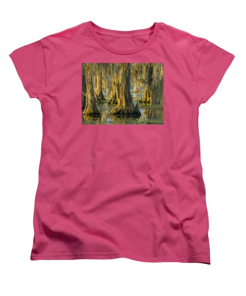 Cypress Canopy Uncovered Women's T-Shirt (Standard Cut) by Kimo Fernandez