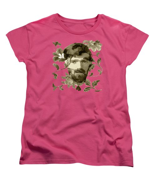 D H Lawrence Women's T-Shirt (Standard Cut) by Asok Mukhopadhyay