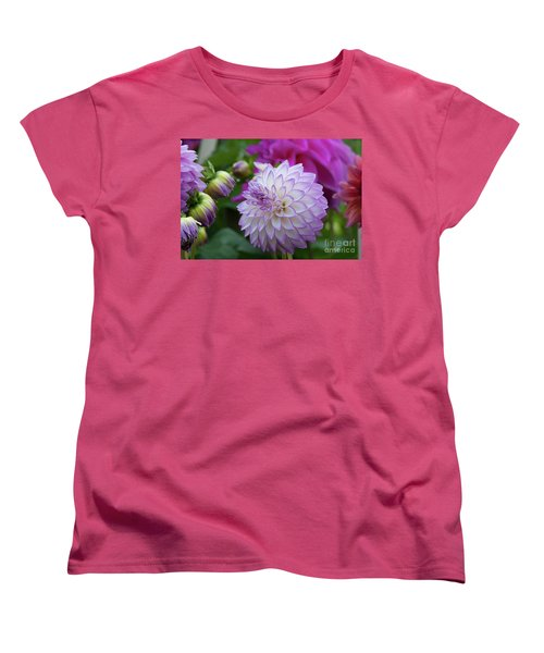 Dahlia Women's T-Shirt (Standard Cut) by Glenn Franco Simmons