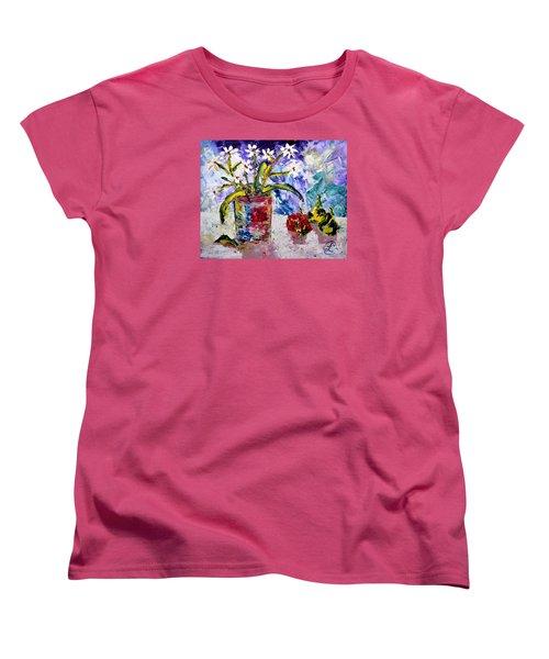 Daisies Women's T-Shirt (Standard Cut) by Lynda Cookson