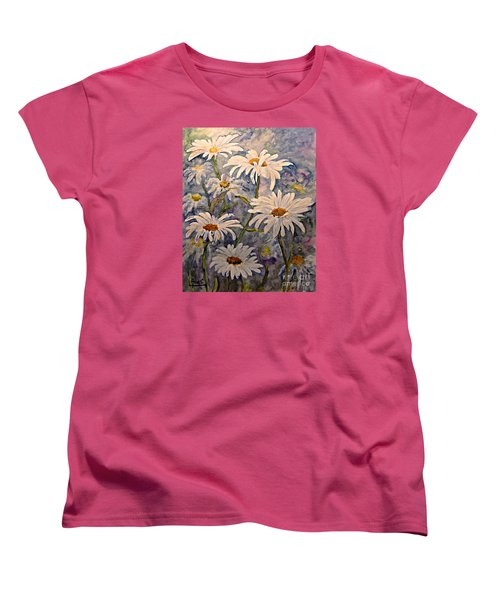 Daisies Watercolor Women's T-Shirt (Standard Cut)