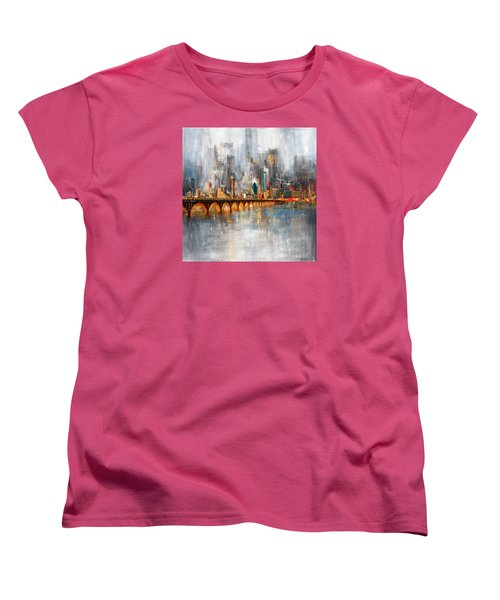 Dallas Skyline 217 1 Women's T-Shirt (Standard Cut) by Mawra Tahreem