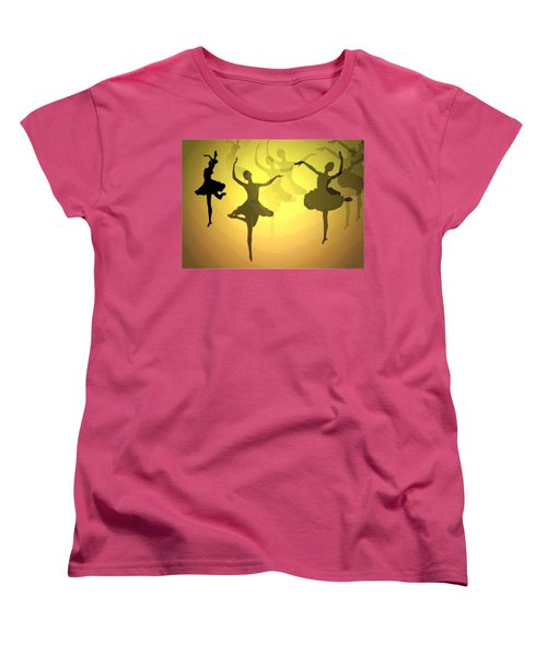 Women's T-Shirt (Standard Cut) featuring the photograph Dance With Us Into The Light by Joyce Dickens