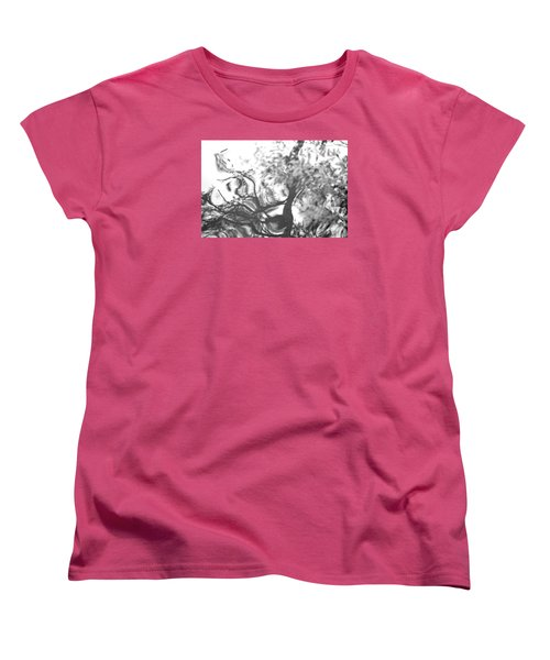 Women's T-Shirt (Standard Cut) featuring the photograph Dancing Leaves by Linda Geiger