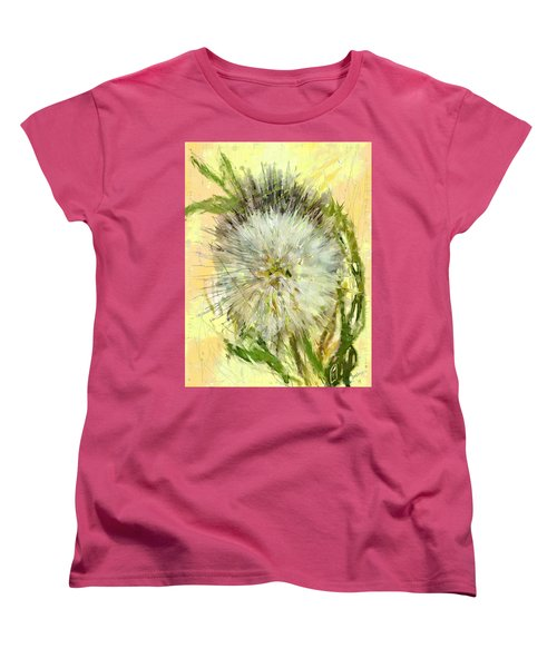 Dandelion Sunshower Women's T-Shirt (Standard Cut) by Desline Vitto