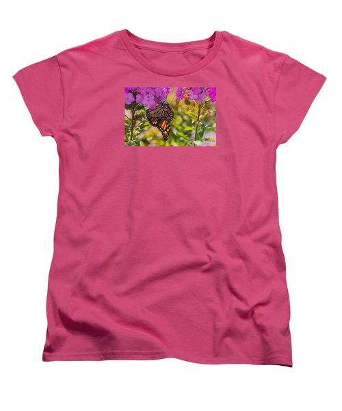 Dangling Monarch   Women's T-Shirt (Standard Cut) by Yumi Johnson