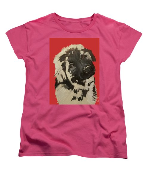 Women's T-Shirt (Standard Cut) featuring the painting Date With Paint Sept 18 5 by Ania M Milo