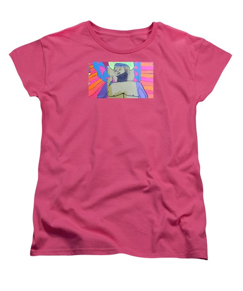 Women's T-Shirt (Standard Cut) featuring the painting David The Archangel by Don Koester