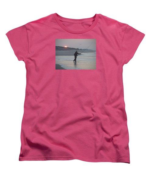 Women's T-Shirt (Standard Cut) featuring the photograph Dawn Patrol by Newwwman