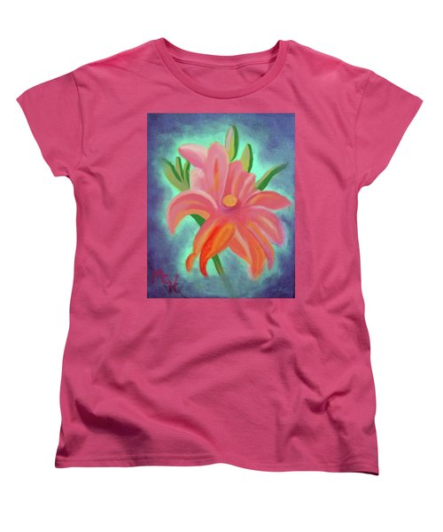 Daylily At Dusk Women's T-Shirt (Standard Cut) by Margaret Harmon