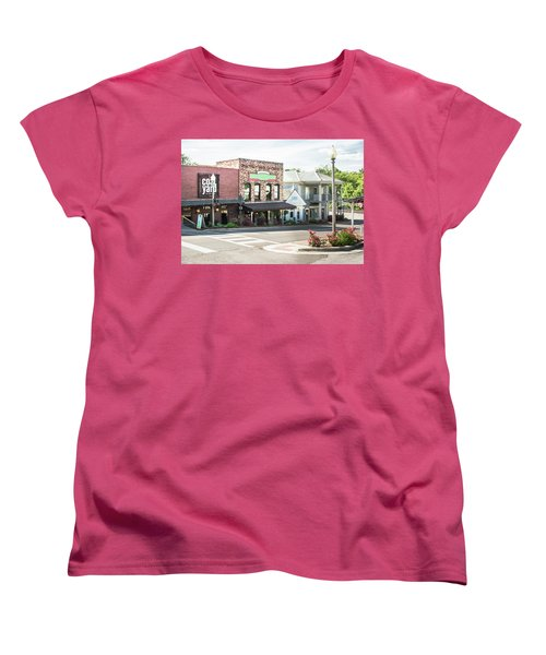 Women's T-Shirt (Standard Cut) featuring the photograph Daytime In Old Town Helena by Parker Cunningham
