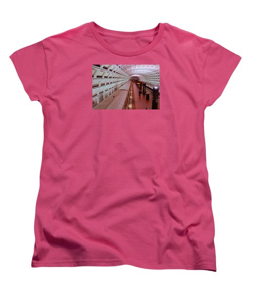 Women's T-Shirt (Standard Cut) featuring the photograph Dc Metro by James Kirkikis