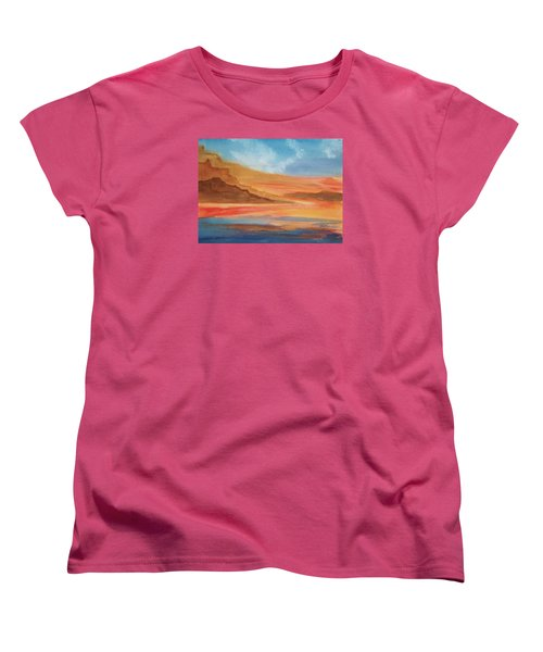 Women's T-Shirt (Standard Cut) featuring the painting Death Valley by Ellen Levinson