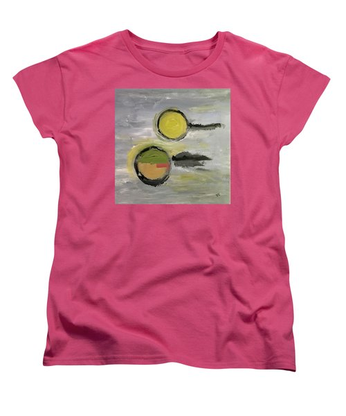 Women's T-Shirt (Standard Cut) featuring the painting Deconstruction by Victoria Lakes