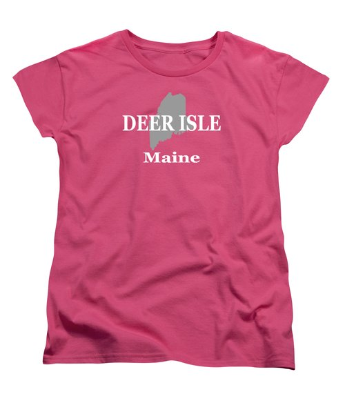 Women's T-Shirt (Standard Cut) featuring the photograph Deer Isle Maine State City And Town Pride  by Keith Webber Jr