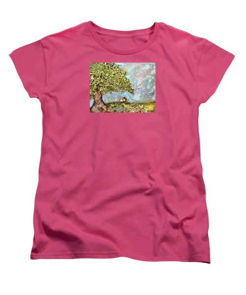 Defend The Fatherless Women's T-Shirt (Standard Cut) by Kirsten Reed
