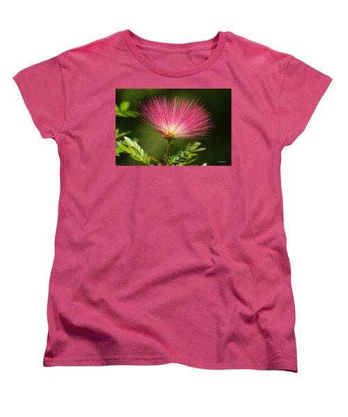Delicate Pink Bloom Women's T-Shirt (Standard Cut) by Gary Crockett