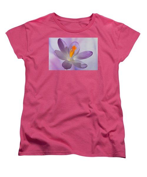 Delicate Spring Crocus. Women's T-Shirt (Standard Cut) by Terence Davis