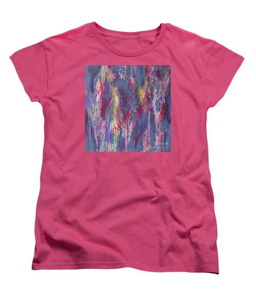 Women's T-Shirt (Standard Cut) featuring the painting Delve Deep 2 by Mini Arora